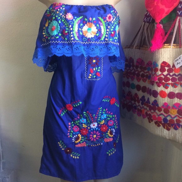 Mexican Traditional Embroidered Dress Plus Size Boutique